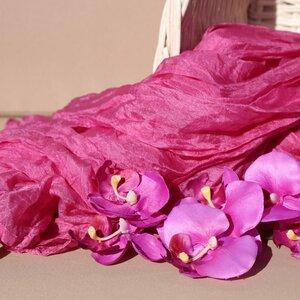Seidenschal Crinkle einfarbig - Schönes aus Indochina