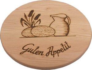"""Drehteller Servierteller 40cm Holz Eschen mit Motiv """"Guten Appetit"""" - Gasplmayr - Freude mit Holz"""