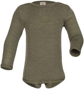 Baby Body langarm *kupfer* o. *olive* Wolle/ Seide GOTS | Engel Natur - Engel natur