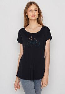 Damen Shirt 100% Biobaumwolle Bike Birds Cool - GreenBomb