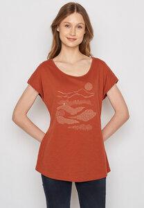 Damen Shirt 100% Biobaumwolle Nature Hut Forest Cool - GreenBomb