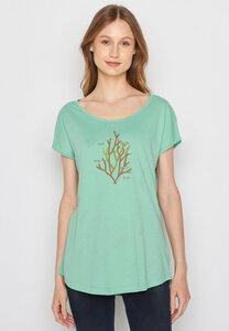 Damen Shirt 100% Biobaumwolle Plants Coral Life Cool - GreenBomb