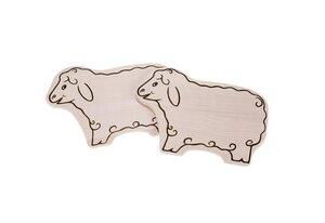 Brettchen Schaf – Ahornholz – 2er-Set - Größe: 29 x 21 x 1,5cm - ReineNatur