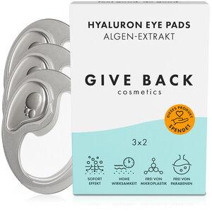 Hyaluron Eye Pads - Vegane Augenpads aus Algen-Extrakt - 3er Pack - Soziales - GIVE BACK Cosmetics