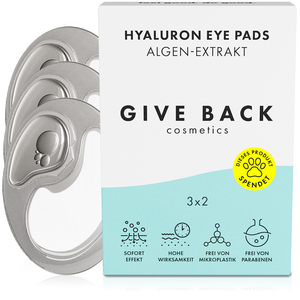 Hyaluron Eye Pads - Vegane Augenpads aus Algen-Extrakt - 3er Pack - Tierschutz - GIVE BACK Cosmetics