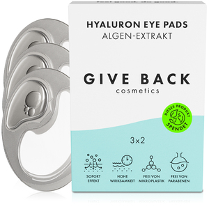 Hyaluron Eye Pads - Vegane Augenpads aus Algen-Extrakt - 3er Pack - Umweltschutz - GIVE BACK Cosmetics