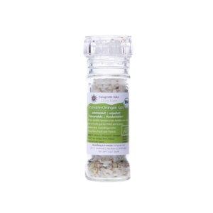 Rosmarin Orangen Bio Salz 80g in einer Gewürzmühle - Salzgrotte Salz