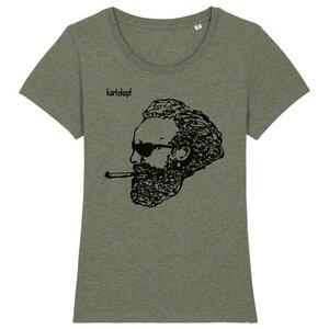ROCKER Bedrucktes Damen T-Shirt -kurzarm- aus Bio-Baumwolle - karlskopf