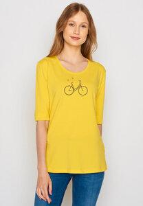 Damen Shirt Biobaumwolle Bike Birds Deep - GreenBomb