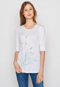 Damen Shirt Biobaumwolle Plants Reed Deep - GreenBomb