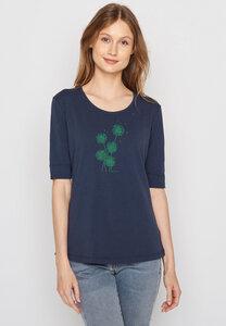 Damen Shirt Biobaumwolle Plants Blowball Deep - GreenBomb