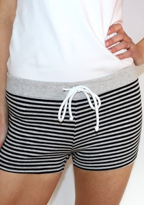 Panty *Pauline* schwarz-grau geringelt - treu