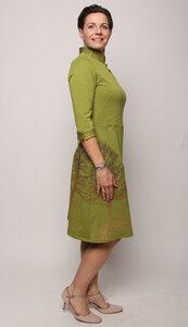 Kunstdruck-Kleid Baumgeschwister - Peaces.bio - handbedruckte Biomode