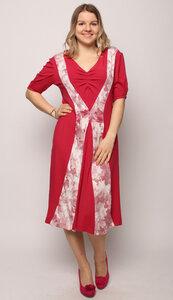Sommerkleid Morgentau in Pink - Peaces.bio - handbedruckte Biomode