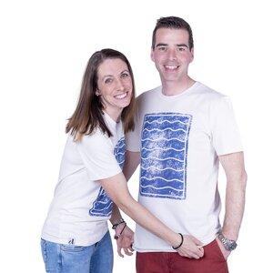 """Unisex T- Shirt """"ELWellen"""" in vintage white - ecolodge fashion"""