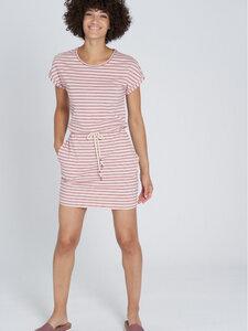 recolution Damen Jersey-Kleid Stripes reine Bio-Baumwolle - recolution