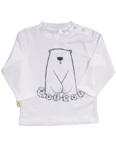 "Baby T-Shirt aus Eukalyptus Faser ""Aura"" | Bär - CORA happywear"