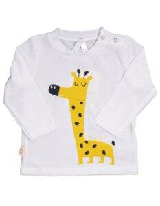 "Baby T-Shirt aus Eukalyptus Faser ""Aura""   Giraffe - CORA happywear"