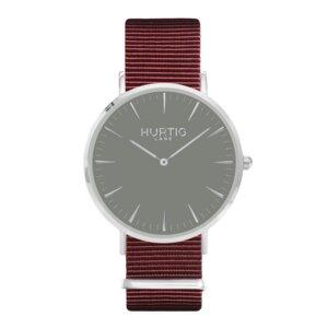 Montezuma Veganes Nylon Uhr Silber/Grau - Hurtig Lane