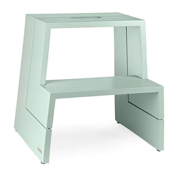design holz tritthocker aus massivem buchenholz mintgr n mit tragegriff unsere special. Black Bedroom Furniture Sets. Home Design Ideas