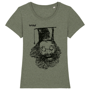UNIABSCHLUSS Bedrucktes Damen T-Shirt -kurzarm- aus Bio-Baumwolle - karlskopf