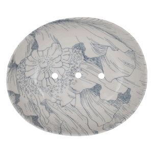 Seifenschale Floral aus Steinzeug 13 cm - TRANQUILLO