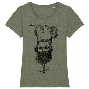KOCH Bedrucktes Damen T-Shirt -kurzarm- aus Bio-Baumwolle - karlskopf