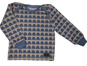 Babyshirt Elefantenparade blau - Omilich