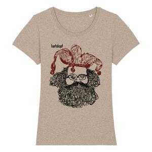 CASPER Bedrucktes Damen T-Shirt -kurzarm- aus Bio-Baumwolle - karlskopf
