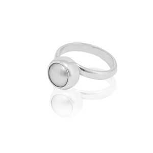 Ring Silber Süßwasserperle elegant Fair-Trade - pakilia