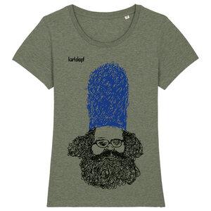 BEWACHER Bedrucktes Damen T-Shirt -kurzarm- aus Bio-Baumwolle - karlskopf
