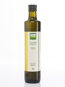 Hanföl kaltgepresst (aus kontrolliert biologischem Anbau (500 ml)) - HANF FARM