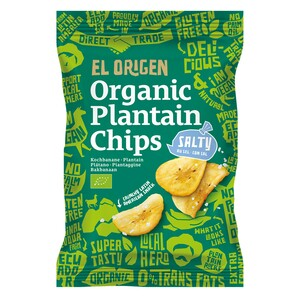 el origen Bio Kochbananen Chips mit Meersalz, 80g - el origen food