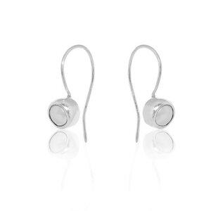 Ohrringe Silber Süßwasserperle elegant Fair-Trade - pakilia