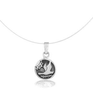 Silber Kette indianisches Sternzeichen Gans Fair-Trade und handmade - pakilia