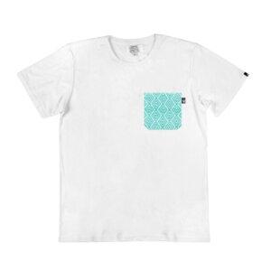 Unisex Shirt Savia Blanca mit handgestickter Brusttasche aus Mexiko - Someone Somewhere