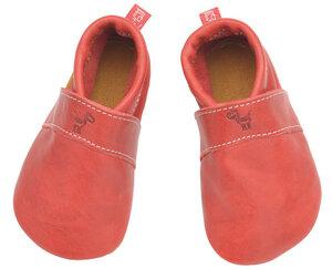 Nachhaltige Krabbelschuhe aus chromfreiem Leder Modell Uni in verschiedenen Farben - Anna und Paul