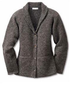 Ecology Blazer - Warme Wolljacke 100% ökologische Shetland Lammwolle, Mulesingfrei, handgefertigt, ungefärbte Naturfarben - Eribé Knitwear