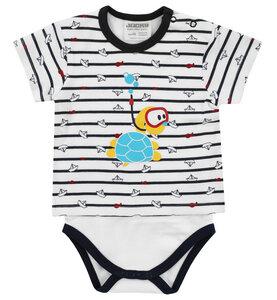 """Babys und Kinder Body-Kurzarmshirt Jacky """" Ocean Child """" 100%Baumwolle ( bio) Jungen - Jacky Baby"""