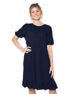 "Damen Kleid aus Eukalyptus Faser ""Luna"" blau - CORA happywear"