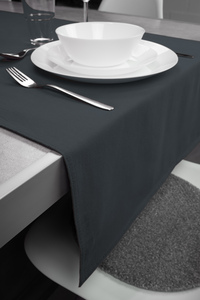 Tischläufer Renforce 100% Bio-Baumwolle Uni 50x160cm - jilda-tex