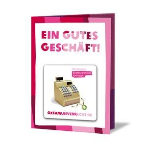 originelle Grußkarte - Existenzgründung für Frauen - OxfamUnverpackt