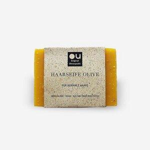 Fair Trade Haarseife Olive für normale Haare - Original Unverpackt