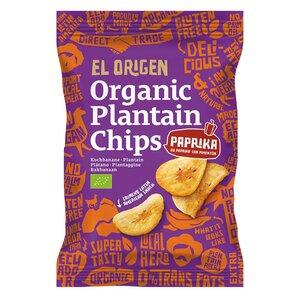 el origen Bio Kochbananen Chips mit Paprika, 80g - el origen food