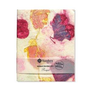 """Notizbuch """"Bouquet"""" aus handgeschöpftem Recycling Biobaumwoll-Papier - Sundara"""