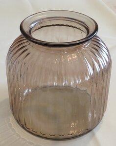 Windlicht aus Glas - Rauchbraun - Ø 17 cm - ReineNatur
