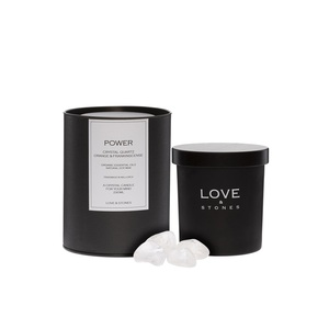 Love & Stones Power Kristallquarz Duftkerze 290ml - Love & Stones
