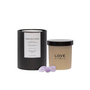 Love & Stones Protection Amethyst Duftkerze 290ml - Love & Stones