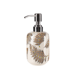 Seifenspender aus Steinzeug mit verschiedenen Mustern 300 ml - TRANQUILLO