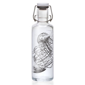 Soulbottle 0,6l  'Jellyfish in the bottle' - Trinkflasche aus Glas - soulbottles